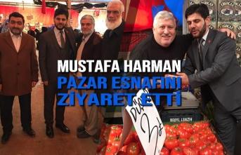 Mustafa Harman; Pazar Esnafını Ziyaret Etti