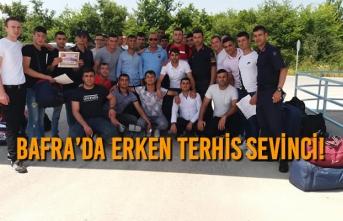 Bafra'da Erken Terhis Sevinci!