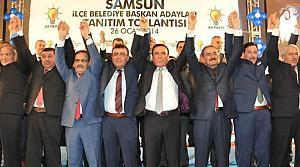 AK Parti Samsun İlçe Başkan Adaylarını Tanıttı
