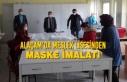 Alaçam'da Meslek Lisesinden Maske İmalatı