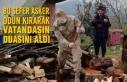 Bu Sefer Asker Odun Kırarak Vatandaşın Duasını...