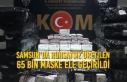 Samsun'da Ruhsatsız Üretilen 65 Bin Maske Ele...
