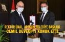 Rektör Ünal Atakum Belediye Başkanı Deveci'yi...