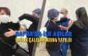 Bafra'da İlk Aşılar Sağlık Çalışanlarına...