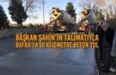 Başkan Şahin'in Talimatıyla Bafra'ya 16 Kilometre Beton Yol Başladı