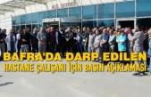 Bafra'da Darp Edilen Hastane Çalışanı İçin Basın Açıklaması