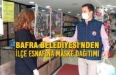 Bafra Belediyesi İlçe Esnafına Maske Dağıttı