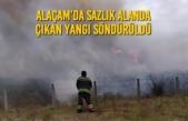 Alaçam'da Sazlık Alanda Çıkan Yangı Söndürüldü