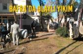 Bafra'da Olaylı Yıkım