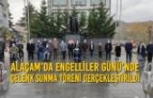 Alaçam'da Engelliler Günü'nde Çelenk Sunma Töreni Gerçekleştirildi