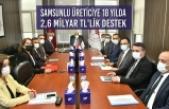Samsunlu Üreticiye 18 Yılda 2,6 Milyar TL'lik Destek