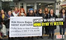 Samsun'da Kadınlardan Minik Öykü'ye Destek
