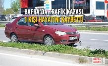 Bafra'da Trafik Kazası; 1 Kişi Hayatını Kaybetti