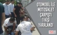 Otomobil İle Motosiklet Çarpıştı ; 1 Yaralı