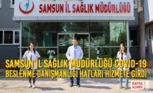 Samsun İl Sağlık Müdürlüğü Covid-19 Beslenme Danışmanlığı Hatları Hizmete Girdi
