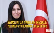 Samsun'da Yakılan Meşale Yolumuzu Aydınlatmaya Devam Ediyor