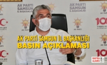 AK Parti Samsun İl Başkanlığı Basın Açıklaması