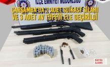 Çarşamba'da 2 Adet Suikast Silahı ve 3 Adet Av Tüfeği Ele Geçirildi