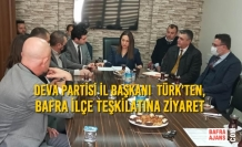 Deva Partisi İl Başkanı Kebire Birer Türk'ten, Bafra İlçe Teşkilatına Ziyaret