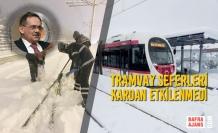 Tramvay Seferleri Kardan Etkilenmedi