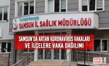 Samsun'da Artan Koronavirüs Vakaları ve İlçelere Vaka Dağılımı