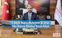 İl Sağlık Müdürü Muhammet Ali Oruç; Vaka Sayımız Düşmeye Devam Ediyor