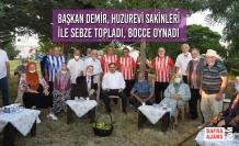 Başkan Demir, Huzurevi Sakinleri İle Sebze Topladı, Bocce Oynadı