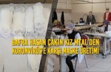 Bafra Hasan Çakın Kız MTAL'den Koronvirüs'e Karşı Maske Üretimi