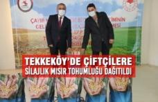 Tekkeköy'de Çiftçilere Silajlık Mısır Tohumluğu Dağıtıldı