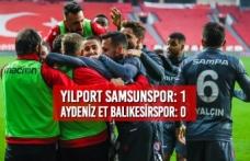 Yılport Samsunspor: 1 – Aydeniz Et Balıkesirspor: 0