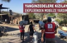 Yangınzedelere Kızılay Ekiplerinden Mobilize Yardım