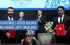 Tacikistan ile Mutabakat Zaptı İmzalandı