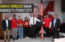Teknofest Birincileri Başkan Sandıkçı'yı Ziyaret Etti