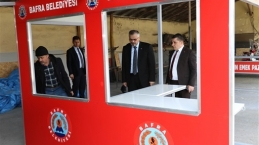 Bafra Belediyesi Kent Mobilyalarını Kendi Üretiyor