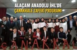 Alaçam Anadolu İHL'de Çanakkale Zaferi Programı