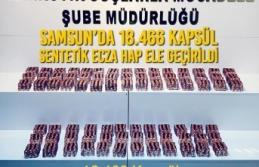 Samsun'da 18.466 Kapsül Sentetik Ecza Hap Ele Geçirildi