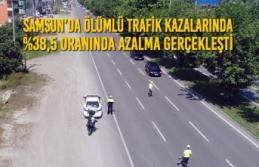 Samsun'da Ölümlü Trafik Kazalarında %38,5 Azalma...