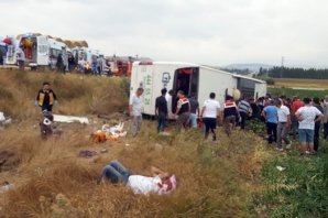 Merzifon'da Yolcu Otobüsü Devrildi; 5 Ölü 36 Yaralı