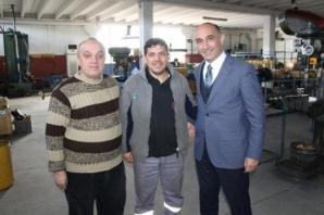 Av. Kemal Şenocak Kalmaksan'da İşçilerle Buluştu