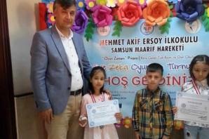 Bafra'da Akıl Ve Zekâ Oyunları Turnuvası Sona Erdi