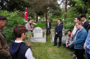 Bafra Ülkü Ocakları Ülkücü Şehit Ekrem Çamaş'ı Unutmadı