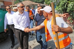 Bafra Belediyesi Asfalt ve Kaldırımda Hız Kesmiyor