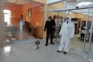 Bafra İlçe Kütüphanesi'ne Korona Dezenfektesi