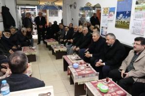 Bafra'da Demircan ve Kılıça Yoğun İlgi