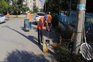 Bafra Belediyesi Temizlik İşleri Ekiplerinden Yoğun Tempo
