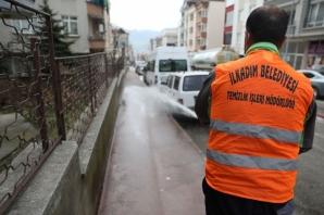 İlkadım'da Sokak Sokak Korona Virüs Mücadelesi Devam Ediyor