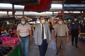 Kaymakam Cevdet Ertürkmen Koronavirüs Denetimi Yaptı