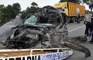 19 Mayıs İlçesi'nde Trafik Kazası; 1 Yaralı