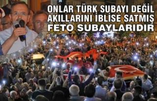 Başkan Şahin'den Demokrasi ve Milli Birlik Yürüyüşü'ne...
