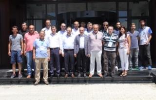 Orhan Kırcalı; Spor Tesislerinde İncelemelerde...